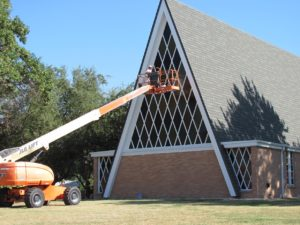 Exterior Painting of a Church in Denver