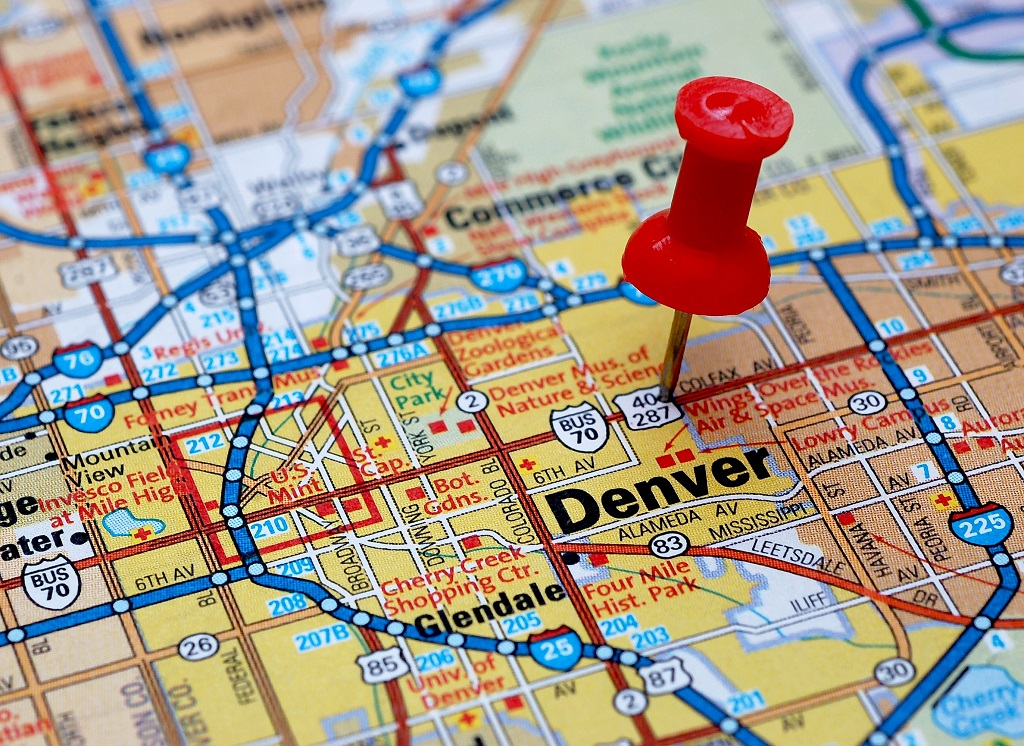 Denver metro area map