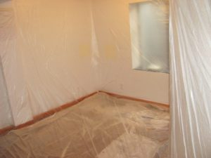 popcorn ceiling removal home covering process