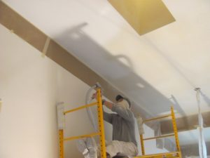 popcorn ceiling remover scaffolding