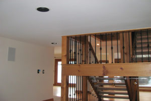 Beige Interior Wooden Staircase