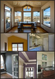 Interior painting collage TSP Painting Services