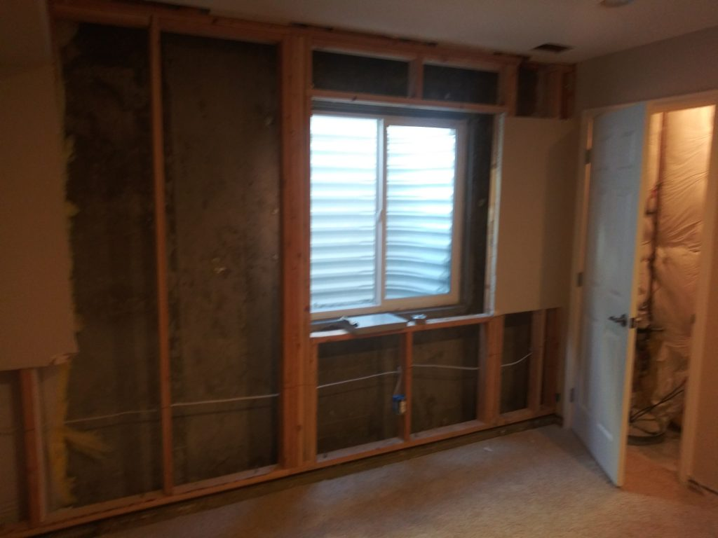 Removed drywall area.