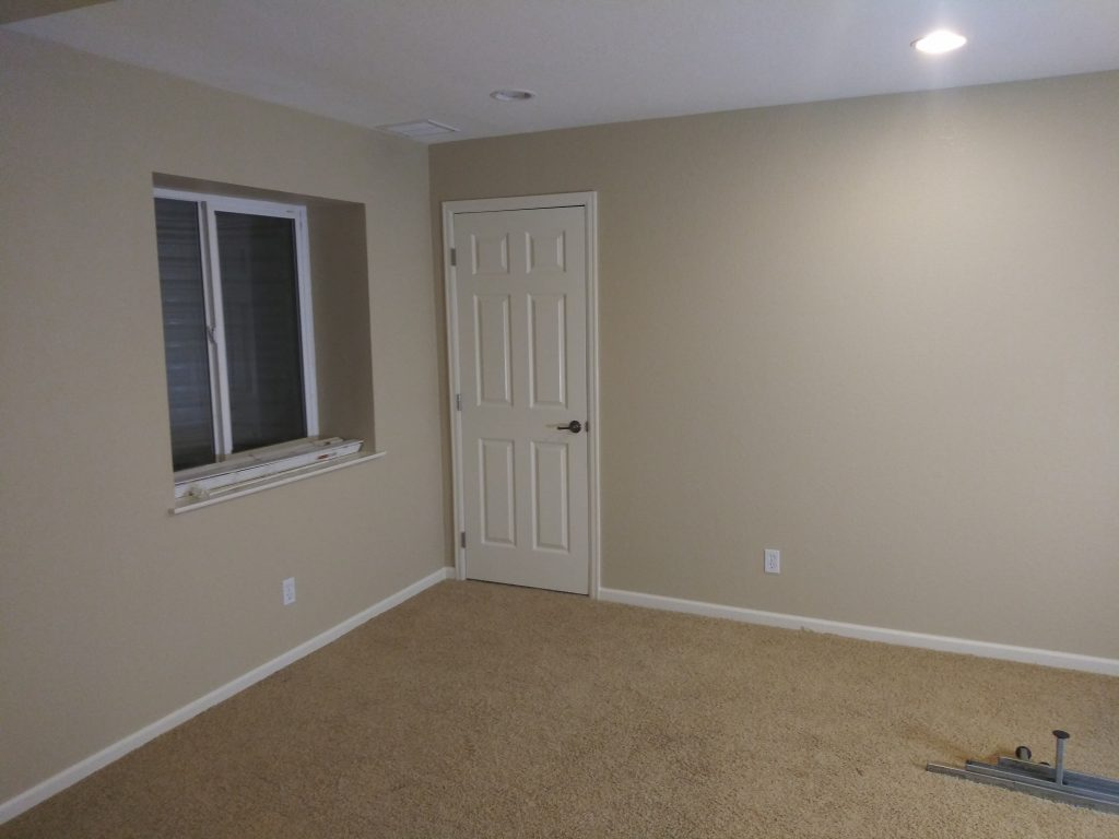 Finished drywall, texture and painting.